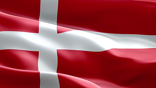 National flag Denmark wave Pattern loopable Elements