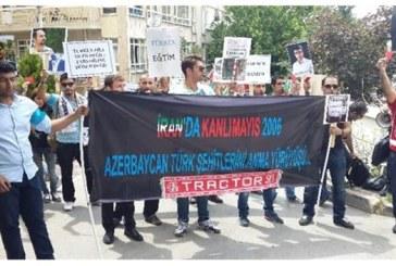 ANKARA'DA İRAN BÜYÜKELÇİLİĞİ ÖNÜNDE GÜNEY AZERBAYCANLILARIN PROTESTOSU (VİDEO+RESİM)