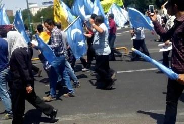 Güney Azerbaycan Türkleri Uygurlar İçin Sokağa Çıktılar! (Video+Resim)