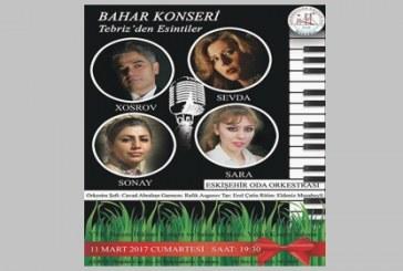 Ankara'da Tebriz Konseri Yapılacaktır
