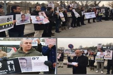 """Ankara'da """"Güney Azerbaycanlı Türk Siyasi Mahpuslara Özgürlük"""" Eylemi Gerçekleştirildi"""