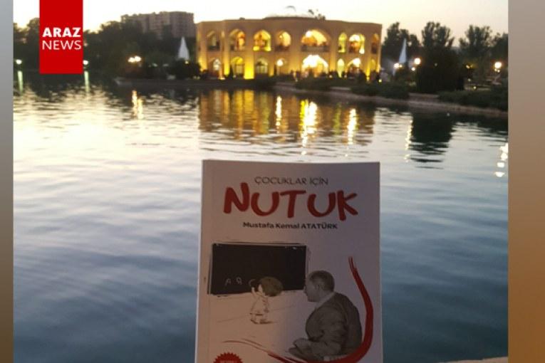 Güney Azerbaycan'da Nutuk kitabı dağıtılıyor